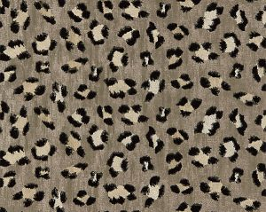 27075-003 BRODERIE LEOPARD Ebony On Silver Scalamandre Fabric