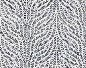 27125-003 WILLOW VINE EMBROIDERY Navy Scalamandre Fabric