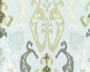 27172-003 MANDALAY IKAT EMBROIDERY Mineral Scalamandre Fabric