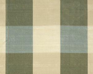 36291-003 WOODLAND CHECK Blue Sage Cream Tan Scalamandre Fabric