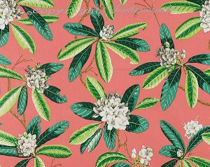 16454-004 RHODODENDRON OUTDOOR Greys Greens On Flamingo Scalamandre Fabric