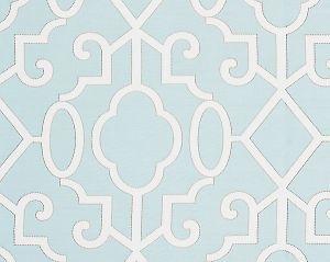 SC 0004WP88356 MING FRETWORK Aquamarine Scalamandre Wallpaper
