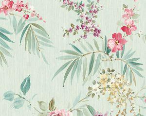 WMA MF040609 PROVIDENCE Turquoise Pink Scalamandre Wallpaper