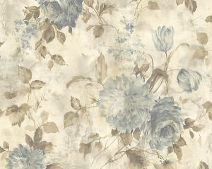 WMA MF060506 SASHA Gold Blue Scalamandre Wallpaper
