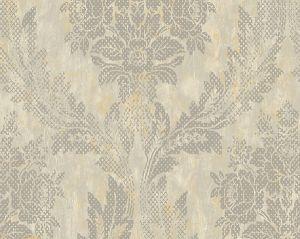 WMA MF080419 TAPIES DAMASK Silver Scalamandre Wallpaper