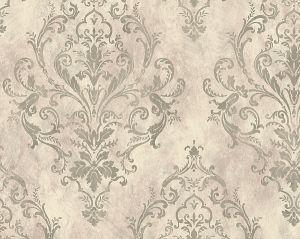 WMA MF090407 PASHMINA DAMASK Silver Purple Scalamandre Wallpaper