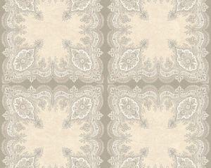 WMA MF090409 PASHMINA Silver Purple Scalamandre Wallpaper