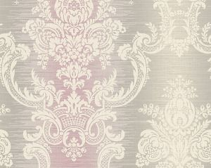 WMA MF090602 ROCHAMBEAU Violet Silver Scalamandre Wallpaper
