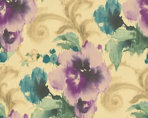WMA MF090810 MARILYN Purple Gold Scalamandre Wallpaper