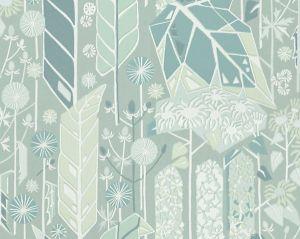 WSB 00380421 SENECIO Green Sandberg Wallpaper
