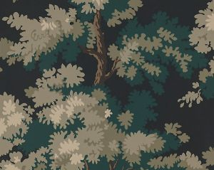 WSB 00810444 RAPHAEL Black Dark Green Lh Sandberg Wallpaper