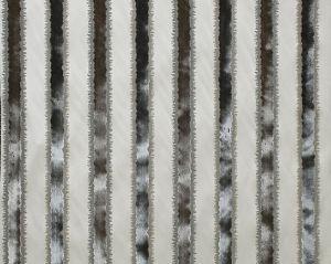 ZS 0002VELZ TAI LAO STRIPE Slate Old World Weavers Fabric