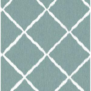 2785-24804 Ikat Trellis Aegean Brewster Wallpaper