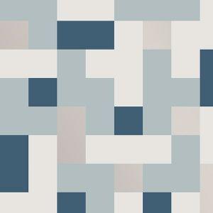 2889-25221 Alby Geometric Blue Brewster Wallpaper