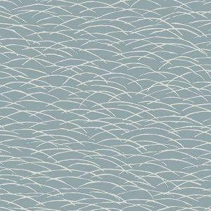 2889-25242 Hono Abstract Wave Blue Brewster Wallpaper