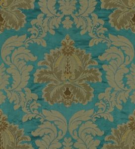 2012154-53 EMILIA DAMASK Teal Lee Jofa Fabric