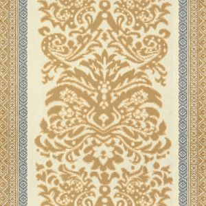 2014108-165 GARNIER DAMASK Beige Blue Lee Jofa Fabric