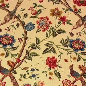 R1362-1 ELINORS CHINESE Cream Brick GP & J Baker Fabric