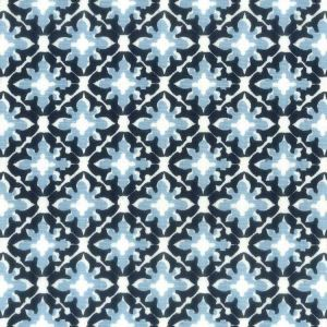 Tile 3 Navy Stout Fabric