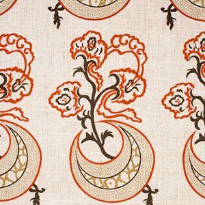 MOON FLOWER Coral Katie Ridder Fabric