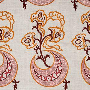 MOON FLOWER Tangerine Katie Ridder Fabric