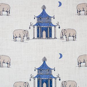 PAGODA Periwinkle Katie Ridder Fabric