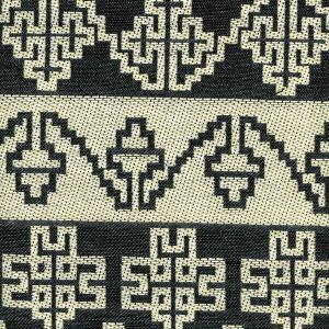 010956T ADOBE HANDSTITCH Charcoal Ecru Quadrille Fabric