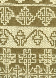 010952T ADOBE HANDSTITCH Greige Ecru Quadrille Fabric