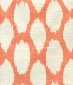 306144F ADRAS REVERSE New Orange on Tint Quadrille Fabric