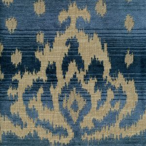 010901T ALY KHAN Multi Blues Quadrille Fabric