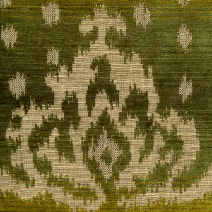 010902T ALY KHAN Multi Green Quadrille Fabric