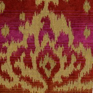 010900T ALY KHAN Multi Magenta Quadrille Fabric