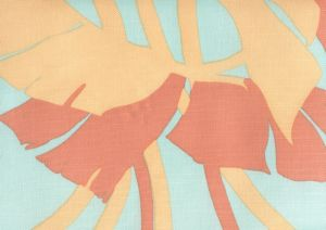 8380-03 AMAZON II Peach with Aquas Quadrille Fabric