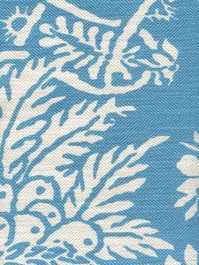 CP1040-01 ANTOINETTE Turquoise on Westover  Quadrille Fabric