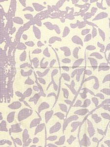 2030N-25 ARBRE DE MATISSE NEUTRAL Soft Lavender on Tinted Linen Quadrille Fabric