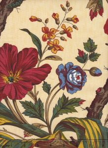 2341-25 ARBRE FLEUR TOILE Beige Quadrille Fabric