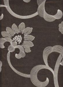 020090T-01E DIAMOND EMBROIDERY White Taupe Gray Quadrille Fabric