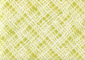 AC860-08 BAHA II Jungle Green on Tint Quadrille Fabric