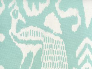 2430-51 BALI II Aqua on White Linen Cotton Quadrille Fabric
