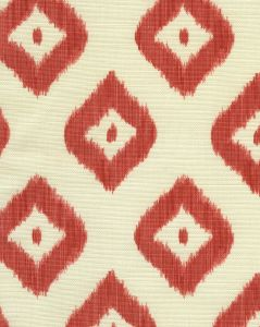 9040-07 BALI DIAMOND Coral on Tint Quadrille Fabric