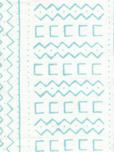 AC980-03 BEAU RIVAGE Turquoise on Oyster Quadrille Fabric