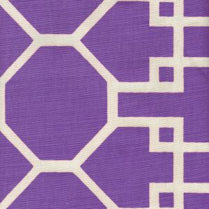 300427F BRIGHTON REVERSE Purple on Tint Quadrille Fabric