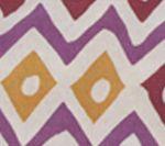AC103-17 CAP FERRAT Multi Lilac/Plum/Gold on Tint Quadrille Fabric
