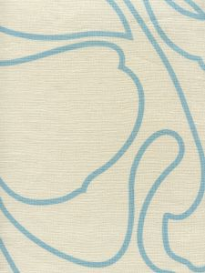 CP1060-02 CAPRI Turquoise on Tan Linen Quadrille Fabric