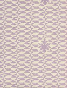 302230B-05 CARLO II NEUTRAL Soft Lavender on Tint Quadrille Fabric
