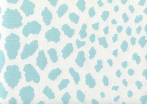 306360F-03WLC CHEETAH New Blue on White Quadrille Fabric