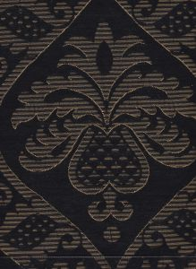 009016T CONCORDIA DAMASK Noir Quadrille Fabric