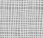 AC403-24 CRISS CROSS Dark Grey on White Quadrille Fabric