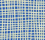 AC403-15 CRISS CROSS French Blue on Tint Quadrille Fabric