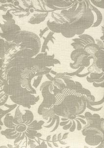 306092F DES GARDES Soft Gray on Tint  Quadrille Fabric